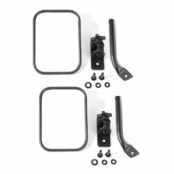 Exterior Body & Styling - Jeep Wrangler TJ / LJ 97-06 - STUBBY TRAIL MIRROR, RECTANGULAR PAIR, TXT BLK; 97-17 JEEP WRANGLER TJ / JK - 11025.22
