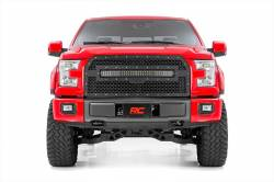 Rough Country - Grille - Rough Country FORD MESH GRILLE W/30IN DUAL ROW BLACK SERIES LED (15-17 F-150) - 70193