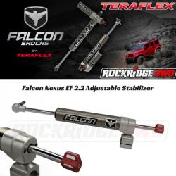 "Steering Upgrades - Jeep Wrangler JK 07-Present - Falcon Shocks - Teraflex Falcon Nexus EF 2.2 Adjustable Stabilizer (1-5/8"" Tie Rod) for JEEP WRANGLER JK - 01-02-22-110-158"