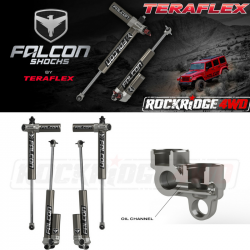 "Falcon Shocks - TERAFLEX JK 2-Door Falcon Series 3.1 Piggyback 0""-2"" Lift Front & Rear Shock Absorber Kit - 02-01-31-400-002"