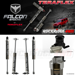 "Falcon Shocks - TERAFLEX JK 2-Door Falcon Series 2.1 Monotube 2.5""-3.5"" Lift Front & Rear Shock Absorber Kit - 02-01-21-400-253"