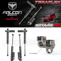 "Falcon Shocks - TERAFLEX JK 4-Door Falcon Series 3.1 Piggyback 1.5""-2.5"" Lift Front & Rear Shock Absorber Kit - 03-01-31-400-002"