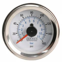"VIAIR - Viair 2"" Dual Needle Gauge (White Face, Illuminated, 160 PSI) - 90082"