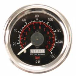 "VIAIR - Viair 2"" Dual Needle Gauge (BLACK Face, Illuminated, 160 PSI) - 90083"