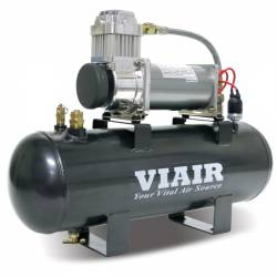 VIAIR - VIAIR 200 PSI 2.0 Gal. Tank Fast-Fill-200 Air Source Kit (12V, 200 PSI Compressor) - 20007