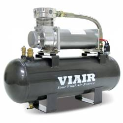 VIAIR - VIAIR 200 PSI 2.0 Gal. Tank High-Flow-200 Air Source Kit (12V, 200 PSI Compressor) - 20008