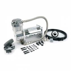 On Board Air & Co2 - Compressor Kits - VIAIR - VIAIR 350C Chrome Compressor Kit (12V, 100% Duty, Sealed) - 35033