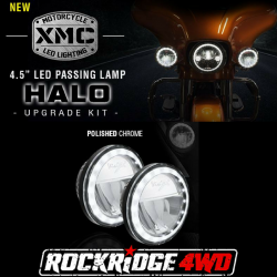 "VISION X Lighting - DOT LED Headlights - VISION X Lighting - Vision X XMC 4.5"" LED PASSING LAMP HALO UPGRADE KIT *Select Color* Motorcycle - XMC-45RDHBKIT, XMC-45RDHKIT"