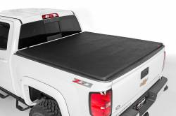 "Rough Country - Rough Country FORD SOFT TRI-FOLD BED COVER (99-16 F-250/350 - 6' 5"" BED W/O CARGO MGMT) - 44599650"
