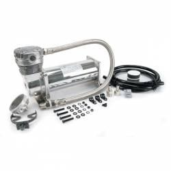 "On Board Air & Co2 - Compressor Kits - VIAIR - VIAIR 460C Chrome Compressor Kit, 3/8"" Port (12V, CE, 100% Duty / Sealed) - 46043"