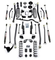 "TeraFlex - TeraFlex Jeep Wrangler JK 4"" Elite LCG Long FlexArm Lift Kit w/ 9550 Shocks *Choose Model* - 1257402-1257400"