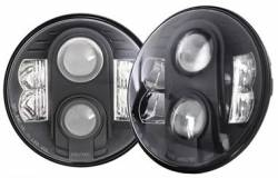 PRO COMP - Pro Comp Explorer Lighting 7 Inch Round LED Headlamp Replacement - Pair (Clear) | NEW PRODUCTION - 76402P - Image 1