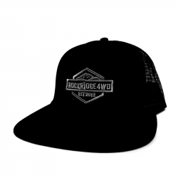 ROCKRIDGE 4WD - ROCKRIDGE 4WD HAT - Embroidered - Snap Back - One Size Fits Most - Black