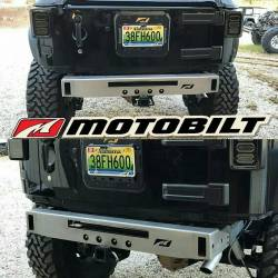 Jeep Wrangler JK 07-18 - Rear Bumpers & Tire Carriers - MOTOBILT JEEP JK MICRO REAR BUMPER WITH LIGHT BAR CUT-OUT - MB1039