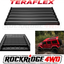 Jeep Tops & Hardware - Jeep Wrangler JK 4 Door 07+ - TeraFlex - TERAFLEX JK Nebo Roof Rack Cargo Slat Kit - Black - 4722060