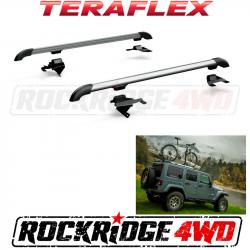 Jeep Tops & Hardware - Jeep Wrangler JK 4 Door 07+ - Teraflex JK Nebo Roof Rack - Silver - 4722000