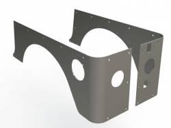 Rear Corner / Quarter Panel Armor - Jeep Wrangler TJ / LJ 97-06 - MOTOBILT JEEP TJ FACTORY CUT CORNER GUARDS - MB1055