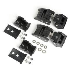 Exterior Body & Styling - Jeep Wrangler JL 18+ - Rugged Ridge - HOOD CATCHES, TEXTURED BLACK; 2018 JEEP WRANGLER JL/JLU - 11210.27