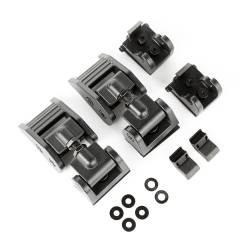 Exterior Body & Styling - Jeep Wrangler JL 18+ - Rugged Ridge - HOOD CATCH, BLACK; 2018 JEEP WRANGLER JL/JLU - 11210.21