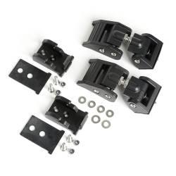 Exterior Body & Styling - Jeep Wrangler TJ / LJ 97-06 - HOOD CATCHES, TEXTURED BLACK; 97-06 JEEP WRANGLER TJ - 11210.18