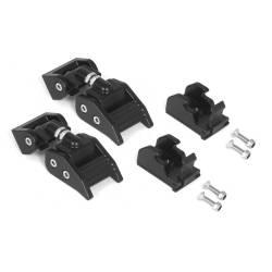 Exterior Body & Styling - Jeep Wrangler TJ / LJ 97-06 - HOOD CATCHES, BLACK ALUMINUM; 97-06 JEEP WRANGLER TJ - 11210.15