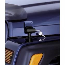 Exterior Body & Styling - Jeep Wrangler TJ / LJ 97-06 - Rugged Ridge - LOCKING HOOD CATCH KIT; 97-06 JEEP WRANGLER TJ - 11210.10