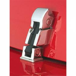Exterior Body & Styling - Jeep Wrangler YJ 87-95 - HOOD CATCH KIT, STAINLESS STEEL; 42-95 JEEP CJ/WRANGLER YJ - 11116.05