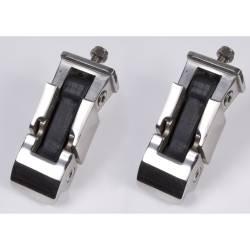 Exterior Body & Styling - Jeep Wrangler TJ / LJ 97-06 - HOOD CATCH SET, STAINLESS STEEL; 97-06 JEEP WRANGLER TJ - 11116.02