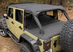 Jeep Tops & Hardware - Jeep Wrangler JK 4 Door 07+ - MONTANA POCKET ISLAND TOPPER, BLACK DIAMOND; 10-18 WRANGLER JK, 4 DOOR - 13622.35