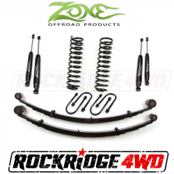 "Jeep XJ Cherokee 84-01 - Zone Offroad Products - Zone Offroad - Zone Offroad 3"" Jeep Cherokee XJ 84-01 Suspension Lift Kit with Rear Leaf Springs By Zone Offroad  - J21N / J22N"