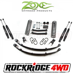 """Zone Offroad 4.5"""" Jeep Cherokee XJ 84-01 Suspension Lift Kit with Rear Leaf Springs - J23/J24"""