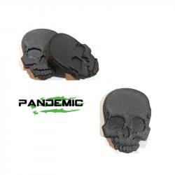 Exterior Body & Styling - Jeep Wrangler JK 07-18 - Pandemic Jeep JK Tailgate Plugs -SKULL - Pair - PAN-P-2
