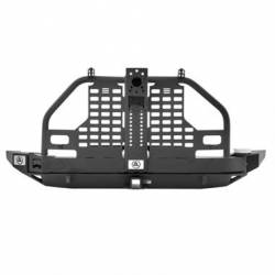 Jeep Wrangler JK 07-18 - Rear Bumpers & Tire Carriers - Smittybilt - Smittybilt XRC Atlas Rear Bumper with Tire Carrier 07-18 Wrangler JK - S/B76896