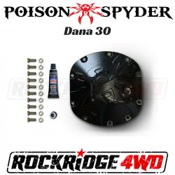 Poison Spyder - Poison Spyder Bombshell Diff Cover - Dana 30 - Black PC - 42-11-030-PC