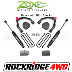 """Zone Offroad - Suspension Components - Zone Offroad - Zone Offroad 3.5"""" Adventure Series UCA Kit 07-13 Chevy/GMC 1500 2WD - C30N"""