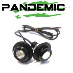 Lighting - PANDEMIC Lighting - Pandemic - Pandemic Jeep JK Tailgate Plugs - Integrated LED 3rd Brake Lights - Pair - PAN-P-4