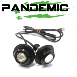 Lighting - LED Tail & License Plate Lights - Pandemic Jeep JK Tailgate Plugs - Integrated LED 3rd Brake Lights - Pair - PAN-P-4