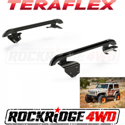 Jeep Tops & Hardware - Jeep Wrangler JK 2 Door 07+ - TeraFlex - Teraflex JK 2-Door Nebo Roof Rack Main Rail Kit - Black - 4722020