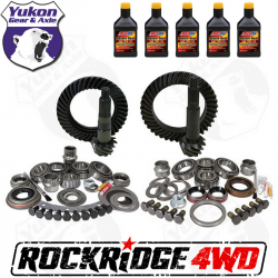 GEAR CHANGE PACKAGES BY VEHICLE - Jeep Wrangler JK 2012 + 3.6L - YUKON GEAR PACKAGE FOR 07-18 JEEP WRANGLER JK, 5.13 RATIO *Includes 5 QTs Amsoil Severe Gear*