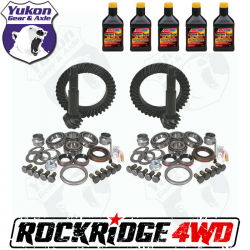 GEAR CHANGE PACKAGES BY VEHICLE - Jeep Wrangler JK 2012 + 3.6L - YUKON GEAR PACKAGE FOR 07-18 JEEP WRANGLER JK, 4.11 RATIO RUBICON *Includes 5 QTs Amsoil Severe Gear*