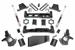 "CHEVY / GMC - 2007-17 Chevy / GMC 1/2 Ton Pickup & SUV - Rough Country - Rough Country 7.5"" Suspension Lift Kit for Chevy/GMC 2007-2013 1500 Pickup *Select Shocks* - 264.20,264.23,26450"