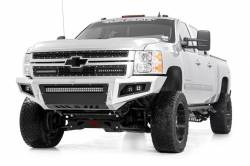 Rough Country - Grille - Rough Country - Rough Country CHEVY MESH GRILLE W/ DUAL 12IN BLACK SERIES LEDS (11-14 SILVERADO HD) - 70155
