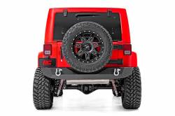 Rough Country - Bumpers and Accessories - Rough Country - Rough Country JEEP ROCK CRAWLER REAR HD BUMPER (07-18 WRANGLER JK) - 10593