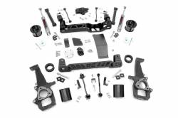 2009-12 Dodge 1/2 Ton Pickup - Rough Country - Rough Country - Rough Country 6IN DODGE SUSPENSION LIFT KIT (12-18 RAM 1500 4WD) - 33230,33223