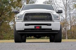 Grille - Rough Country DODGE MESH GRILLE W/30IN DUAL ROW BLACK SERIES LED (13-18 RAM 2500/3500) - 70152