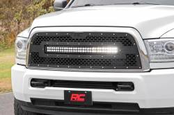 Rough Country - Rough Country DODGE MESH GRILLE W/30IN DUAL ROW BLACK SERIES LED (13-18 RAM 2500/3500) - 70152 - Image 2