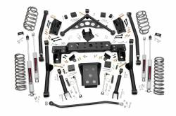 "Jeep WJ Grand Cherokee 99-04 - Rough Country - Rough Country - Rough Country 99-04 Jeep WJ Grand Cherokee 4"" Long Arm Suspension Lift Kit - 90820"