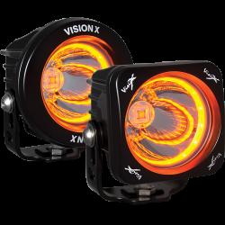 "POD LIGHTING - OPTIMUS SERIES - VISION X Lighting - Vision X 3.0-3.7"" OPTIMUS AMBER HALO *Select Square or Round* - XIL-OPRHA115"