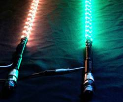 5150 - Two 5150 Brand LED Whips w/ Bluetooth Control - 4' Length - *MADE IN USA*