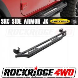 Smittybilt - Armor - Smittybilt - Smittybilt Smittybilt Rock Crawler Side Armor (Light Texture Finish) for 07-18 Jeep Wrangler JKU 4-Door - 76634LT